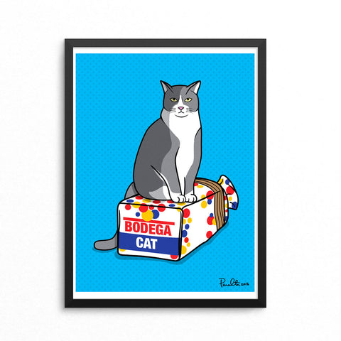 "18"" x 24"" BODEGA CAT (BLUE)"