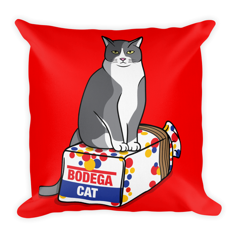 BODEGA CAT 18x18 THROW PILLOW