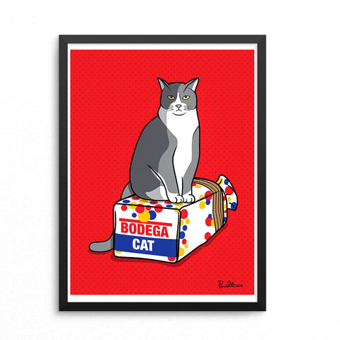 "18"" x 24"" BODEGA CAT (RED)"