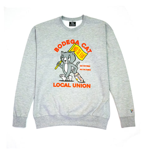 """BODEGA CAT LOCAL UNION"" CREWNECK SWEATSHIRT"