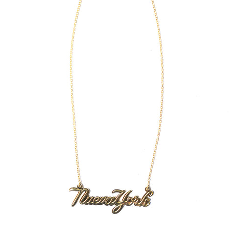 NUEVA YORK SCRIPT NECKLACE