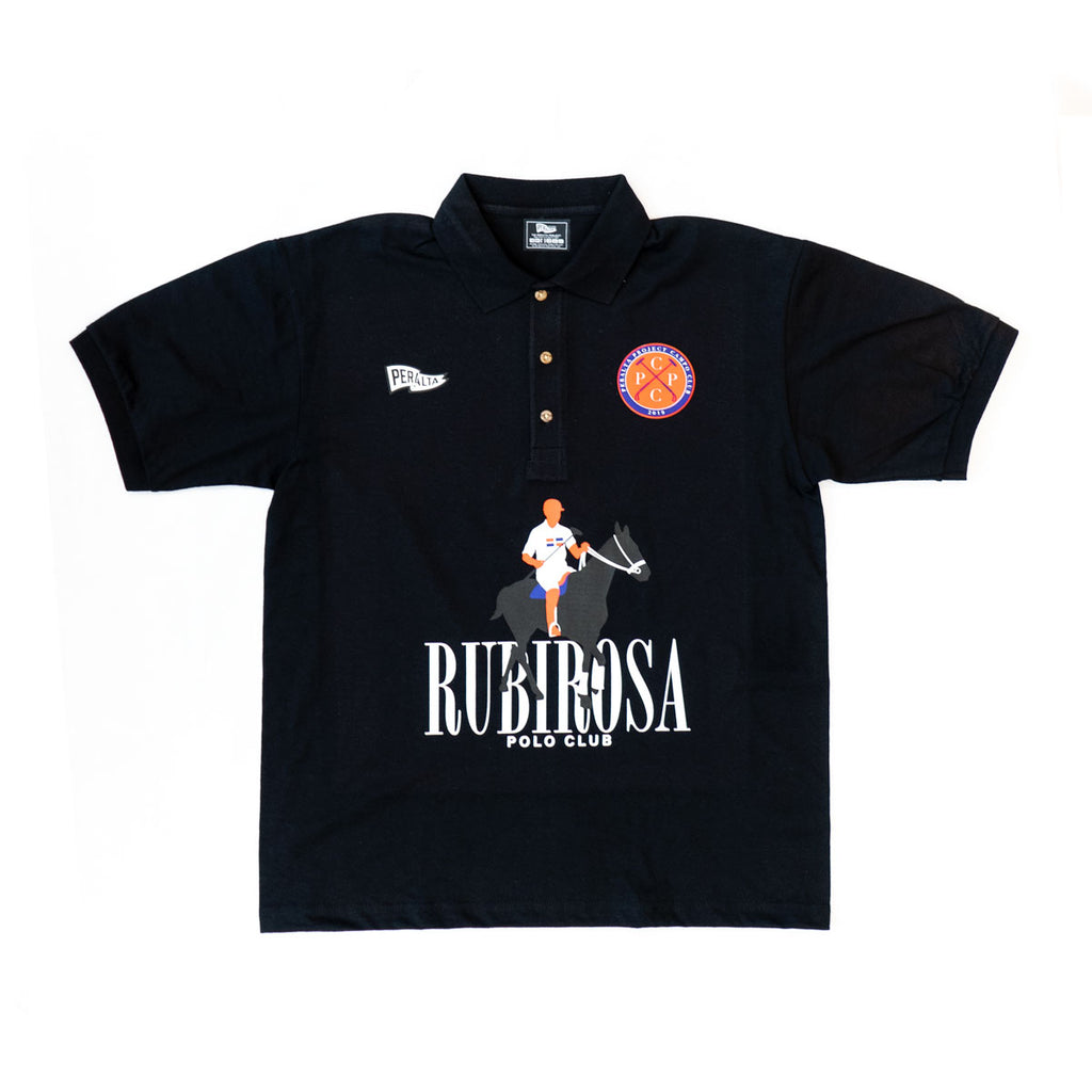 RUBIROSA POLO CLUB SHIRT (BLACK)
