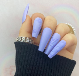 """Louis in Lilac"" Press On Claws"