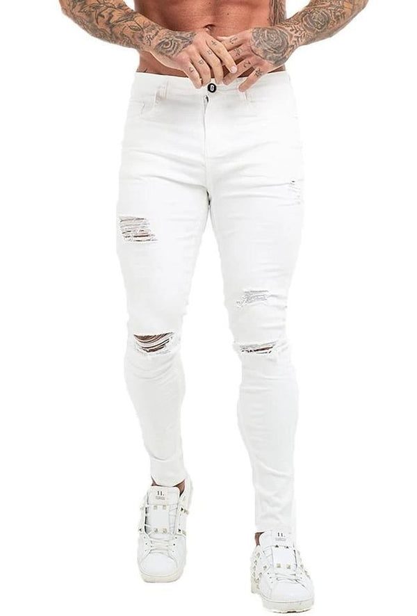 The Gemini Jeans - White - ICE9