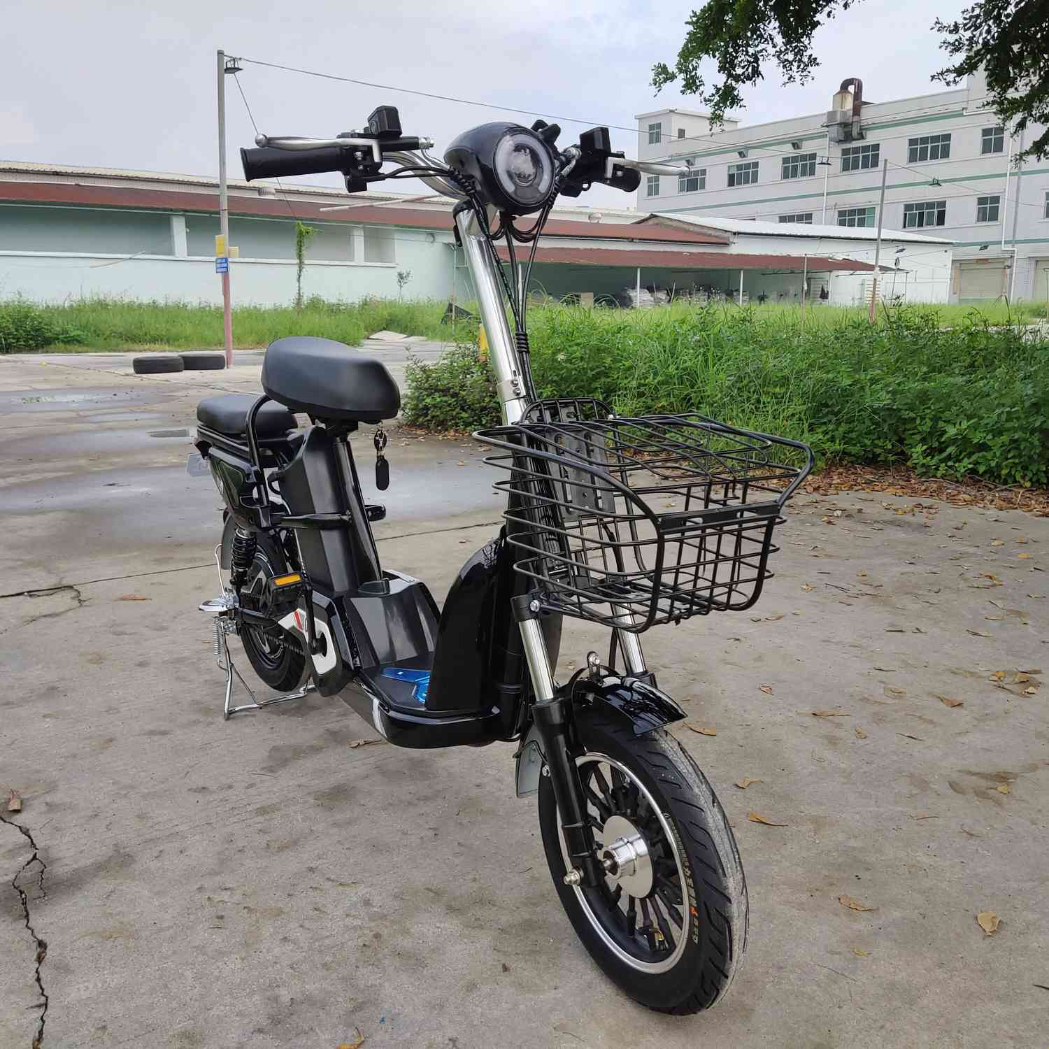 "XQ-CZDD14. 14""*2.5 tires 48V12AH Lithium Battery 350W Motor Pedal Moped E-DELIVERY/CITY BIKE"