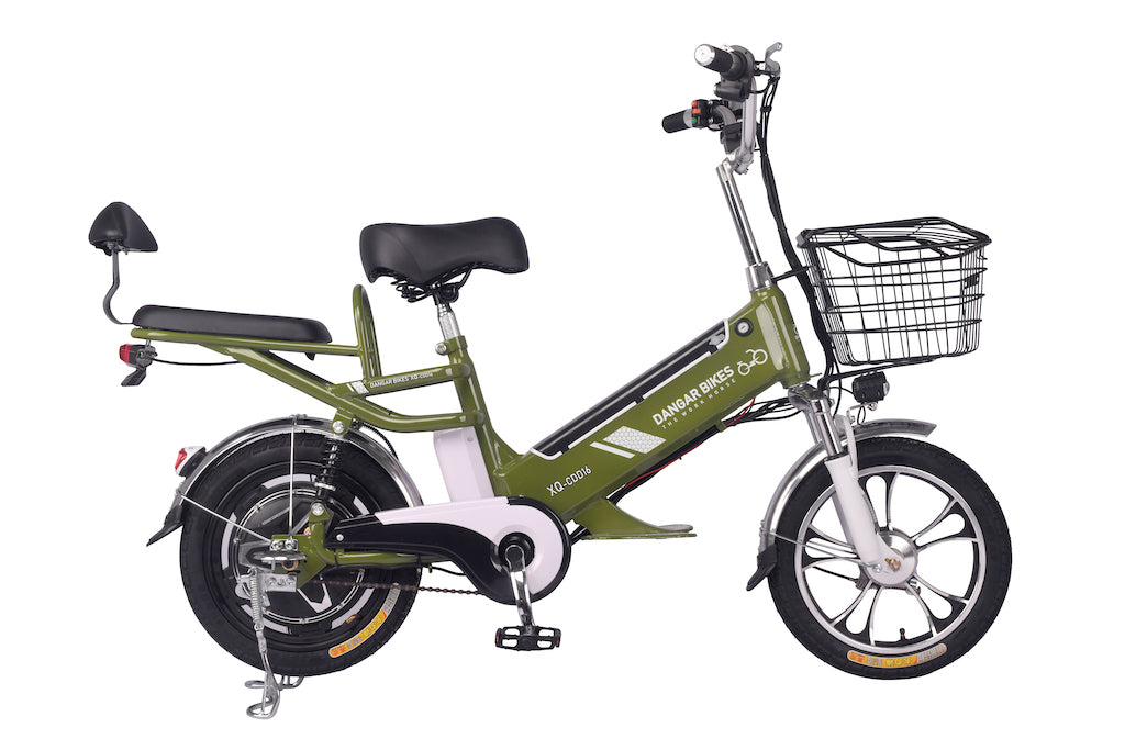 "XQ-CDD16 FOOD / CARGO DELIVERY16"" WHEEL 500W/ 48V Motor 12ah/48v +12ah/48v DUAL BATTERY ELECTRIC BIKE"