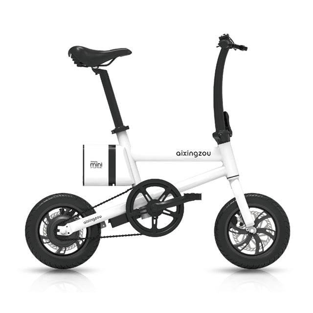 "14"" Wheel Lithium Battery Electric Bike Off Road E-Bike 36V/5.2Ah/250W in white"