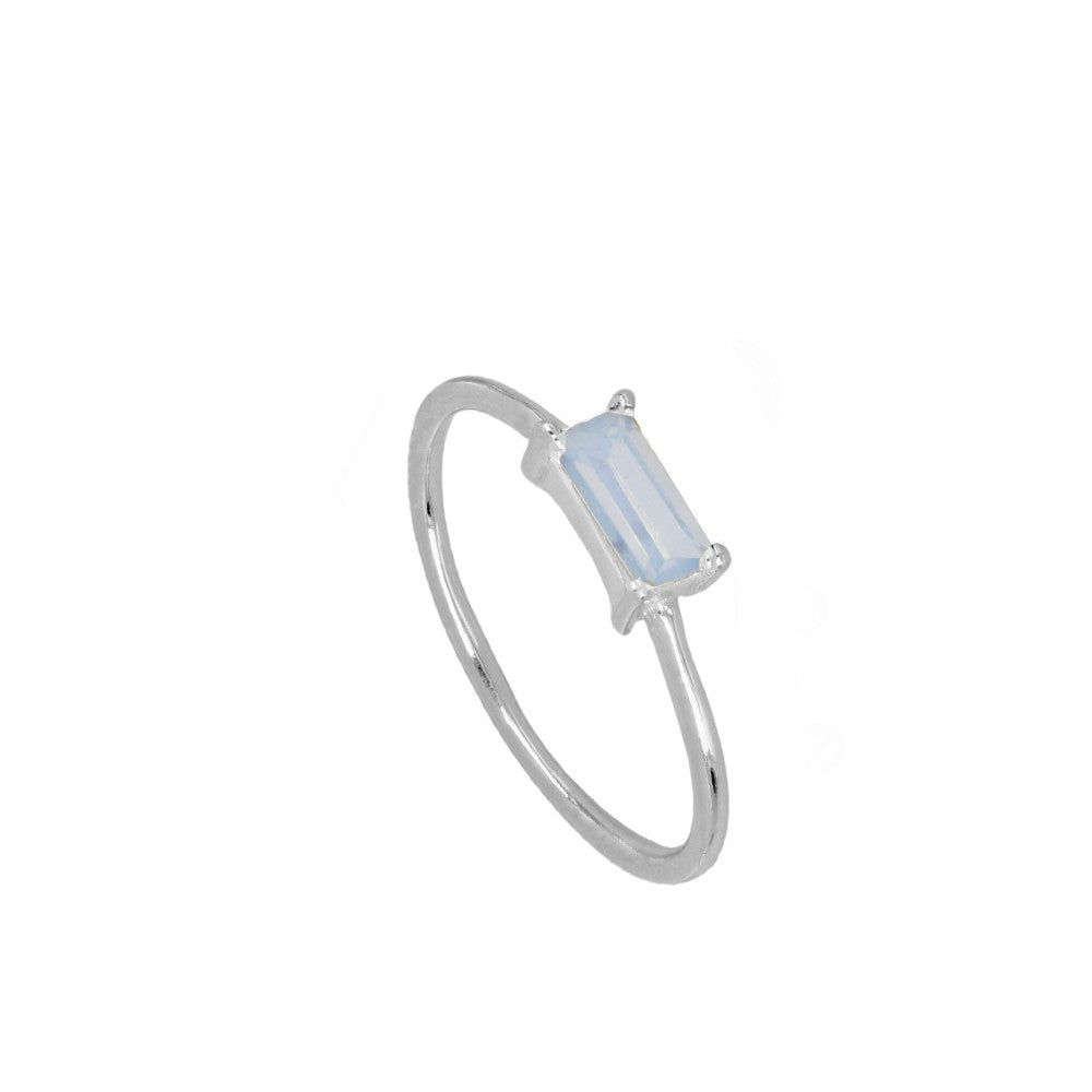 Anillo Glass Baby Blue silver