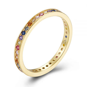 Anillo mini multicolor
