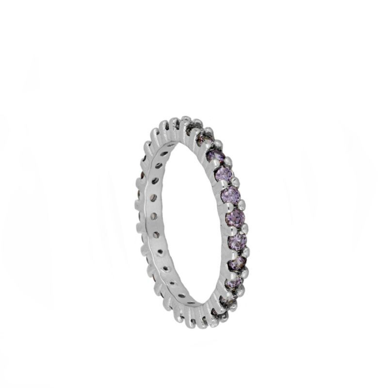 Anillo light Purple Silver
