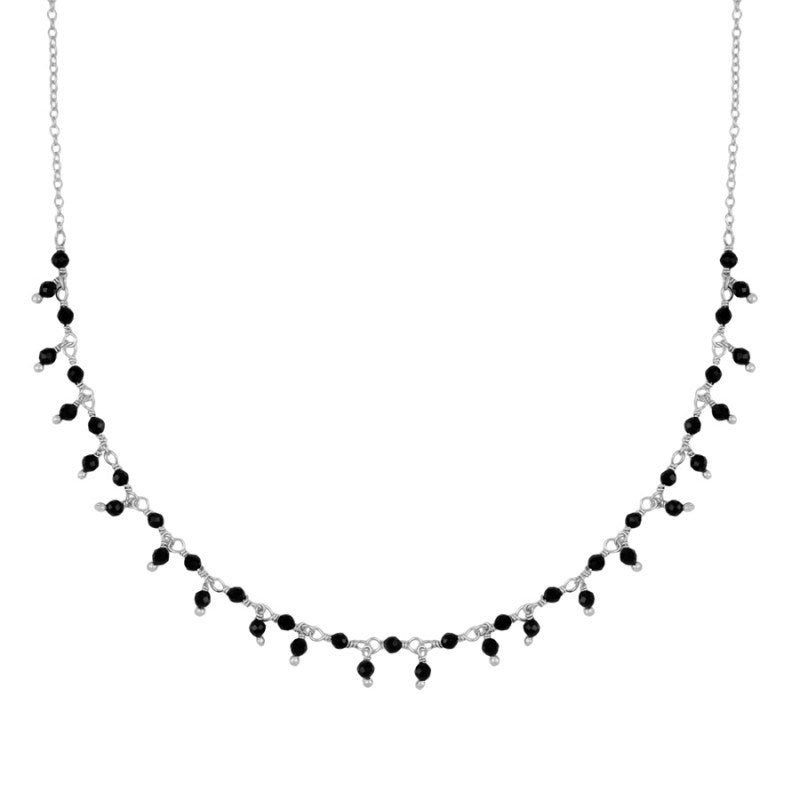 CHOCKER BLACK ESPINELA SILVER