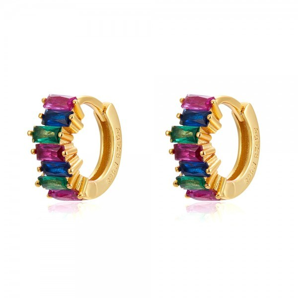 PENDIENTES MINI ARITOS IRIS GOLD