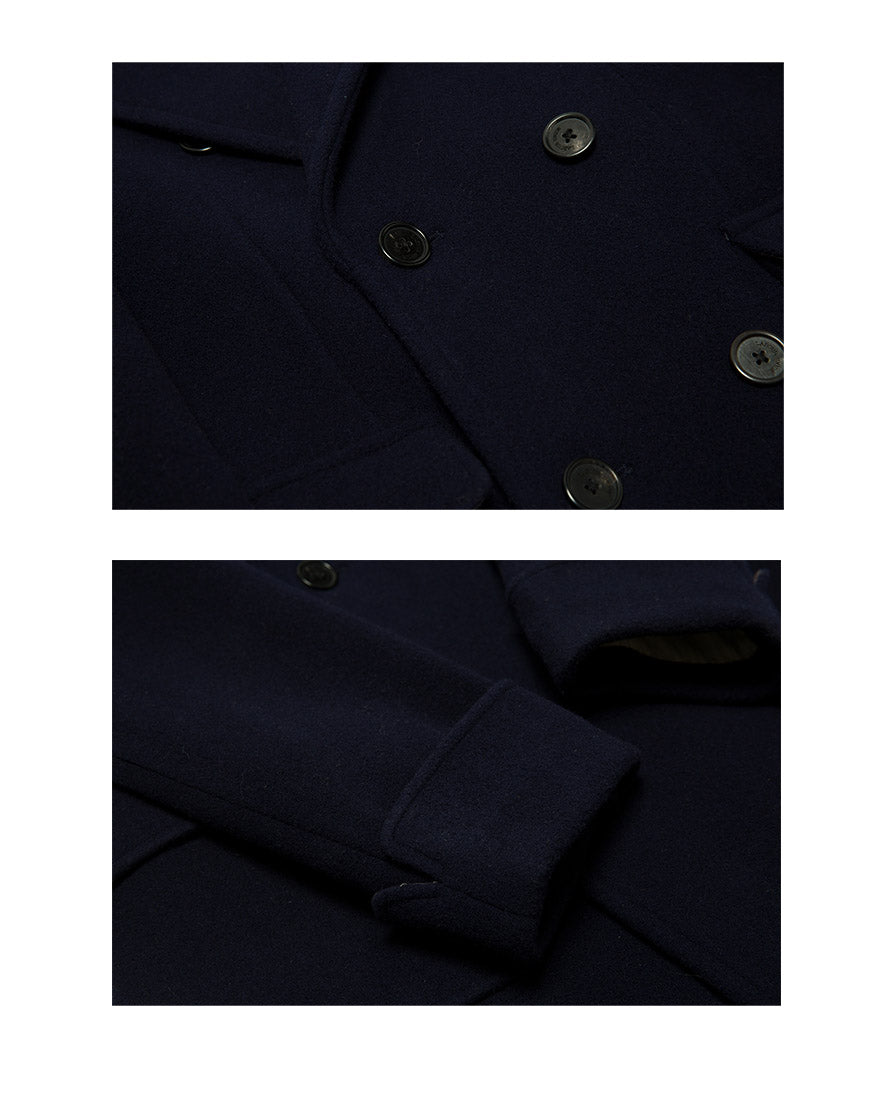 Sapphire Double-breasted Polo Coat