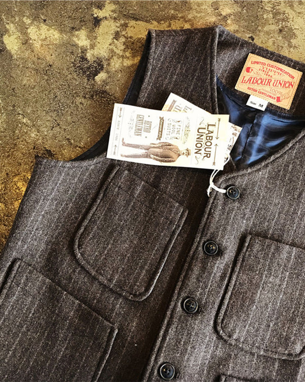 Ambassador Three-Pieces-Suit Waistcoat-Brown