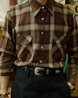 Flannel Shirt Brown Check