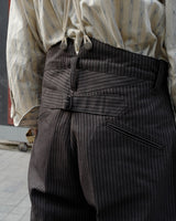 LabourUnion-handmade-clothing-american-retro-vintage-style-menswear-Charcoal-Stripe-Trousers