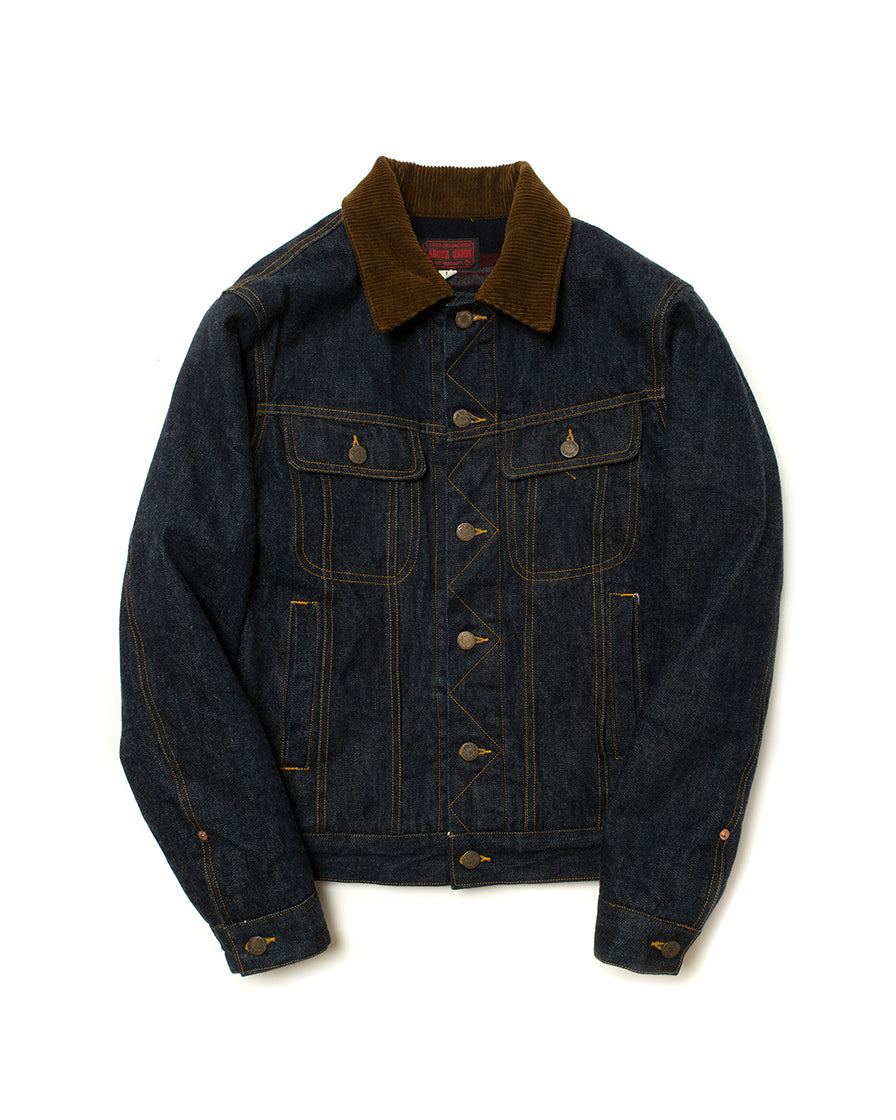 LabourUnion-handmade-clothing-american-retro-vintage-style-menswear-Cord-Collar-Denim-Jacket