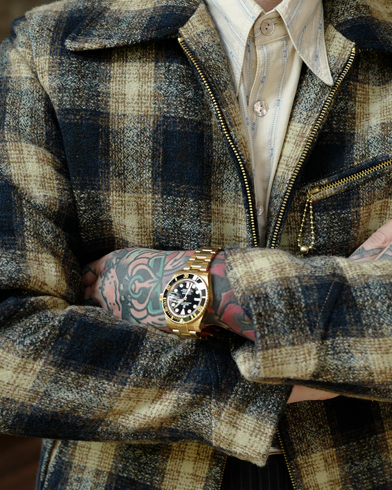 LabourUnion-handmade-clothing-american-retro-vintage-style-menswear-1930s-Mustard-Plaid-Sports-Jacket