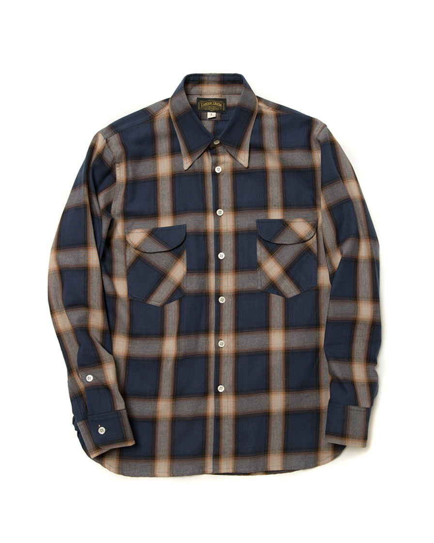 Flannel Shirt Blue Check