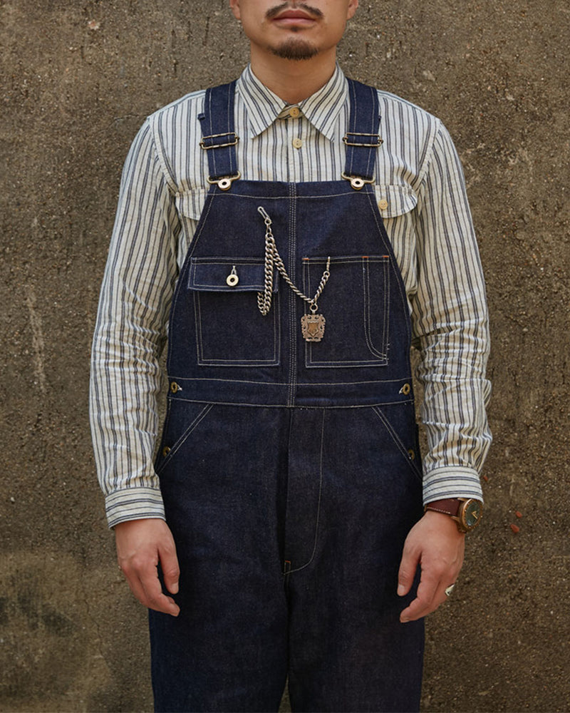 Workwear Raw Denim Dungarees