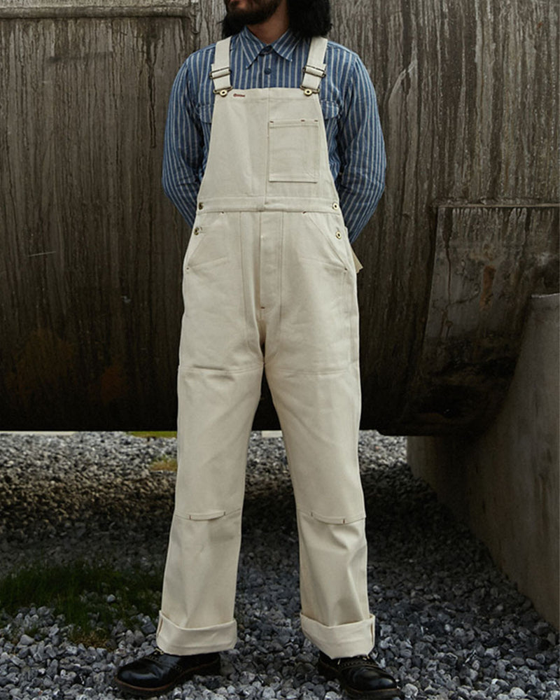 Double Front Cotton Duck Dungarees