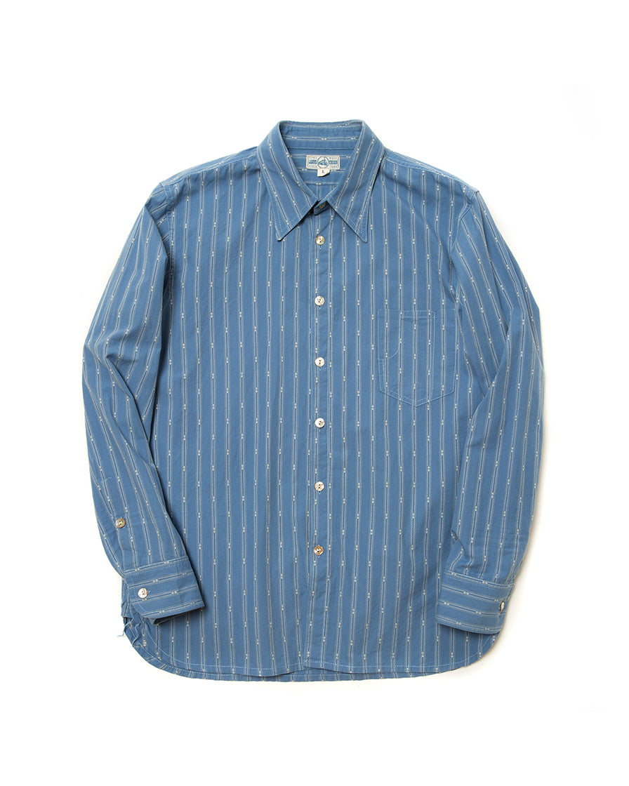 Blue Jacquard Shirt