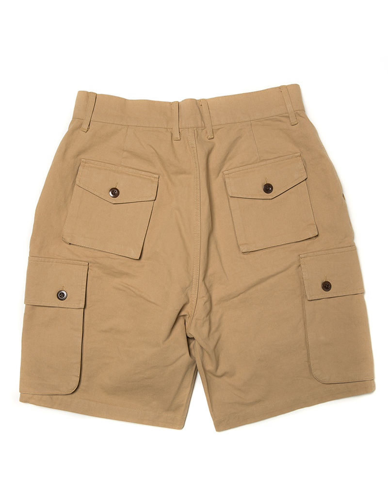 Labourunion-clothing-handemade-american-retro-vintage-style-menswear-bottom-LU160_Multi_Pockets_Khaki_Army_Shorts (1)