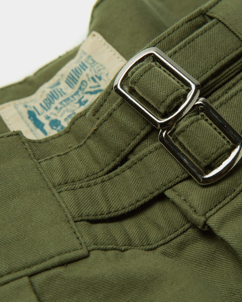 LabourUnion-clothing-american-retro-vintage-handmade-1940s-1960s-British-Army-Double-Buckle-Gurkha-Trousers-green-doublebuckle