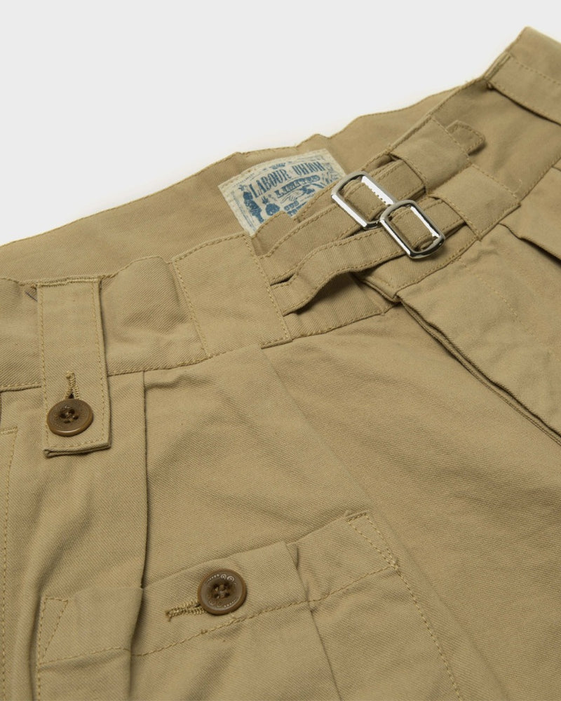 LabourUnion-clothing-american-retro-vintage-handmade-1940s-1960s-British-Army-Double-Buckle-Gurkha-Trousers-khaki-doublebuckle
