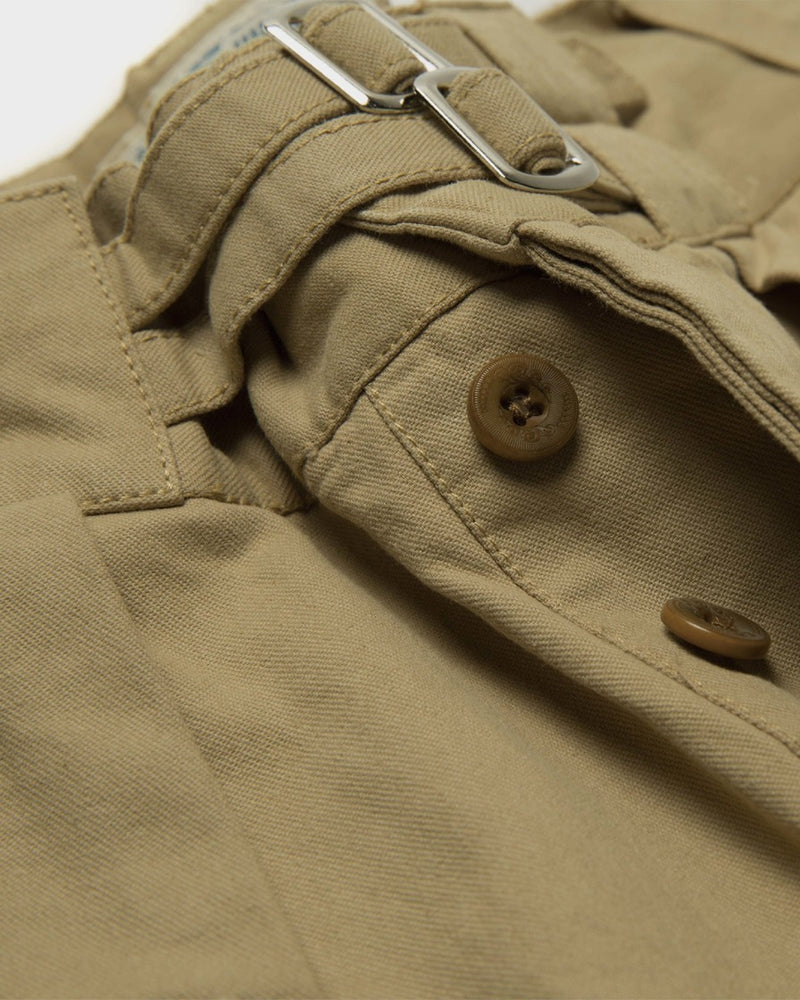 LabourUnion-clothing-american-retro-vintage-handmade-1940s-1960s-British-Army-Double-Buckle-Gurkha-Trousers-khaki-rise