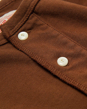 LabourUnion-clothing-american-retro-vintage-handmade-henley-tee-brown-neckline