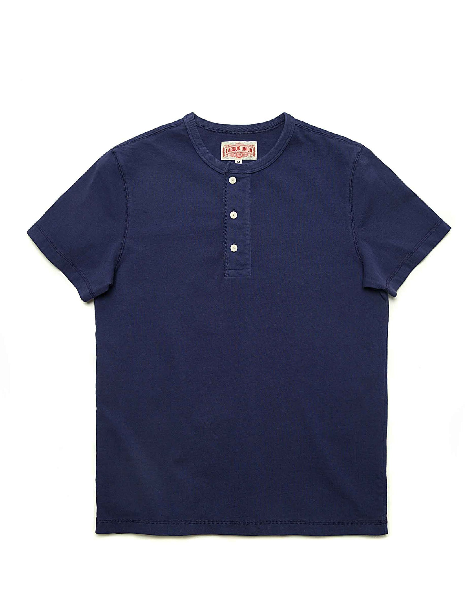 LabourUnion-clothing-american-retro-vintage-handmade-henley-tee-navy