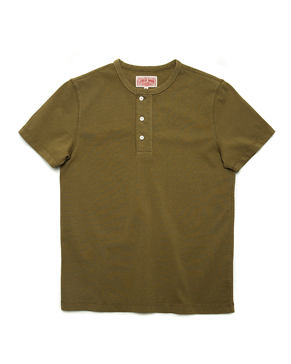 LabourUnion-clothing-american-retro-vintage-handmade-henley-tee-olive