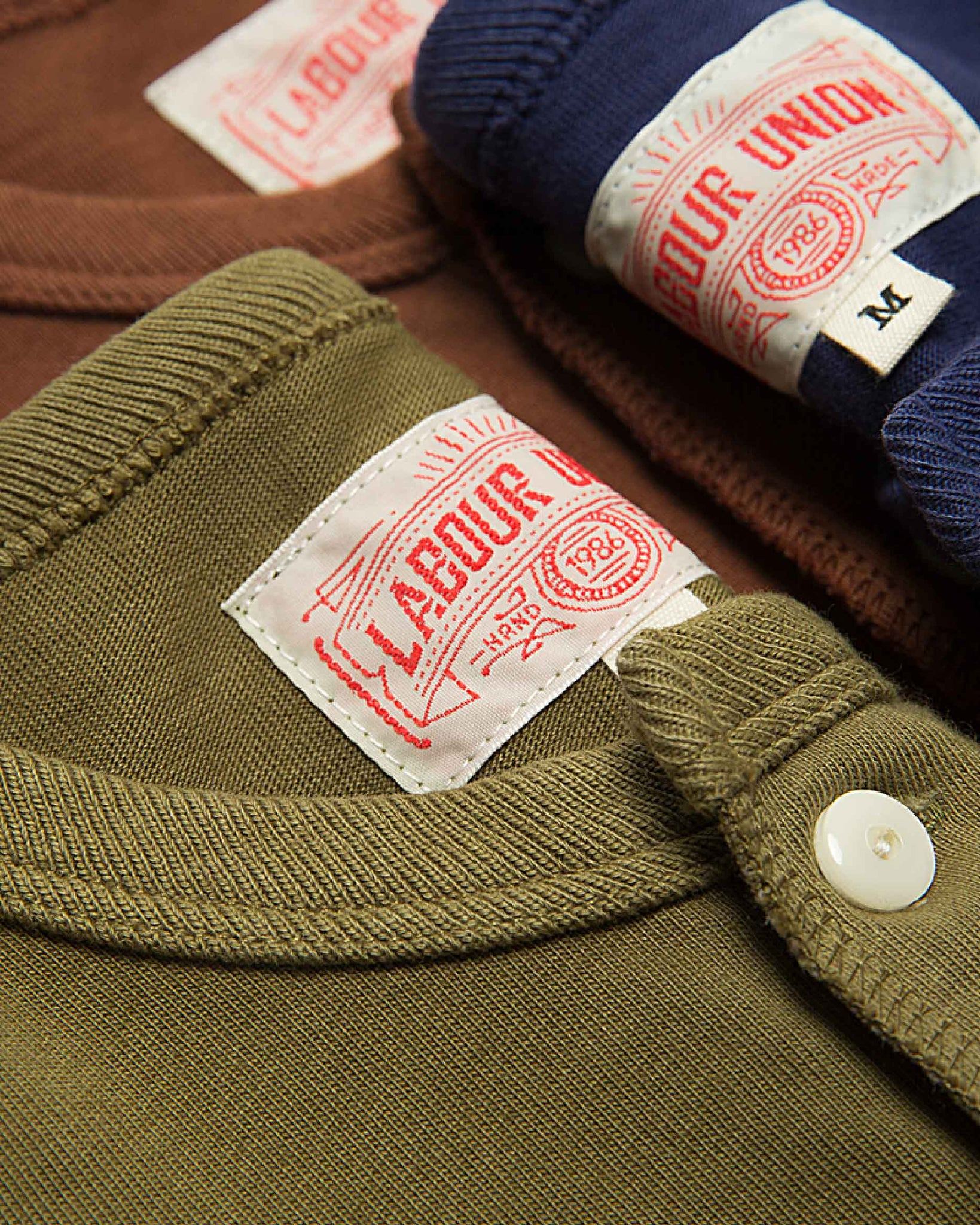 LabourUnion-clothing-american-retro-vintage-handmade-henley-tee-olive-brown-navy
