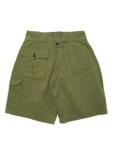 LabourUnion-clothing-american-retro-vintage-handmade-menswear-shorts-British-Army-Double-Buckle -Gurkha-Shorts-back