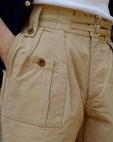 LabourUnion-clothing-american-retro-vintage-handmade-menswear-shorts-British-Army-Double-Buckle-Gurkha-Shorts-khaki