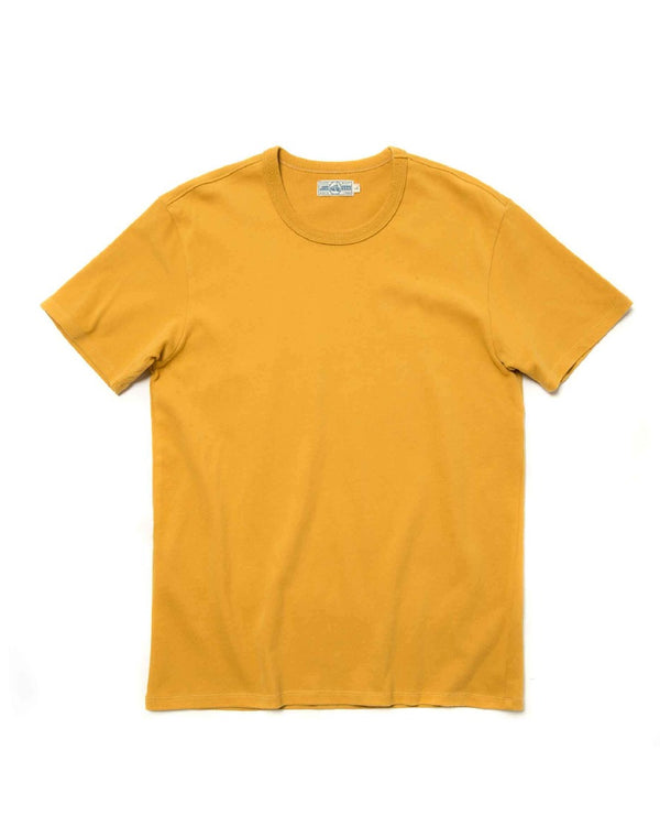 LabourUnion-clothing-american-retro-vintage-handmadeSolid-Color-Cotton-yellow