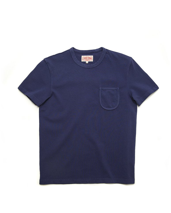 1940s Solid Colour Rib Pocket Tee