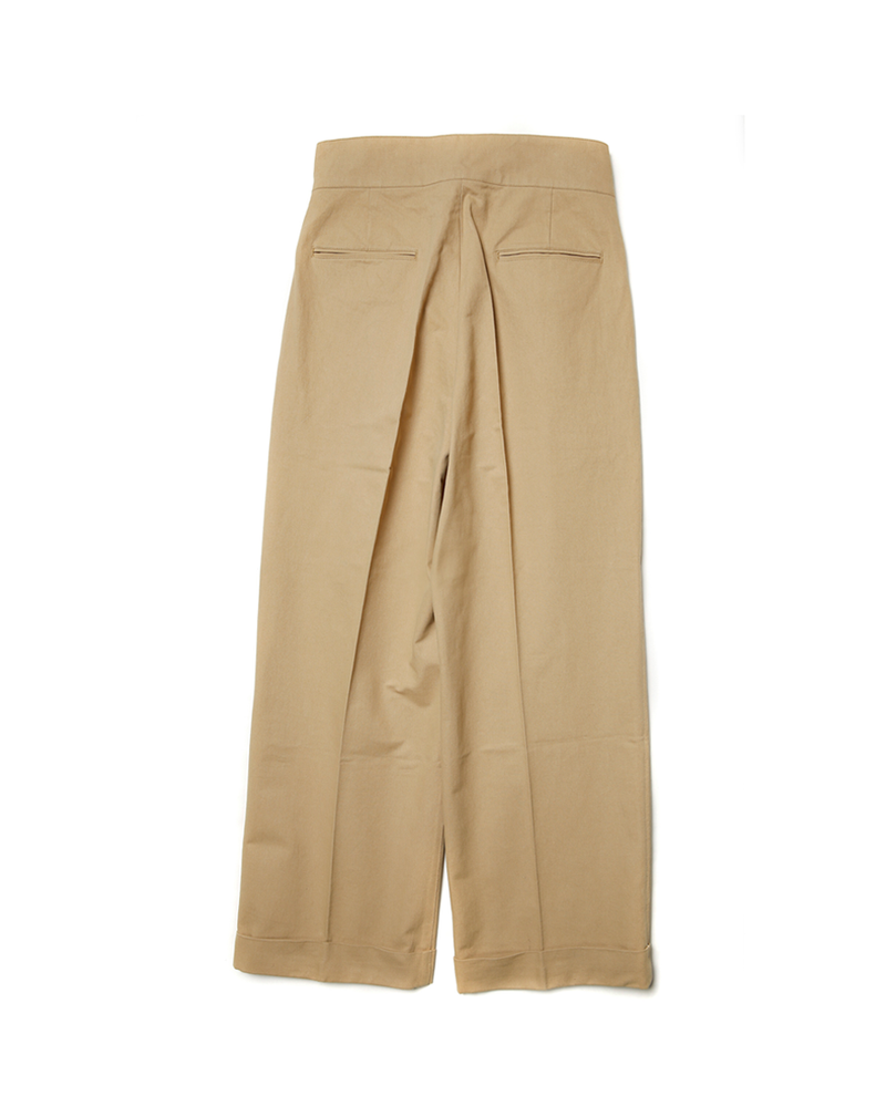 Double Pleated Single Buckle Trousers