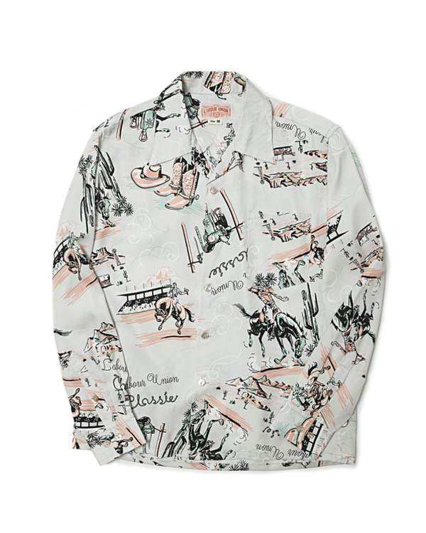 Cow Boy Boots Printed Camp Shirt