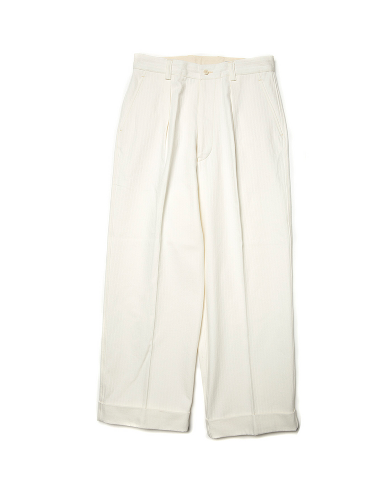 Commander Chevron Pattern Pleated Trouser