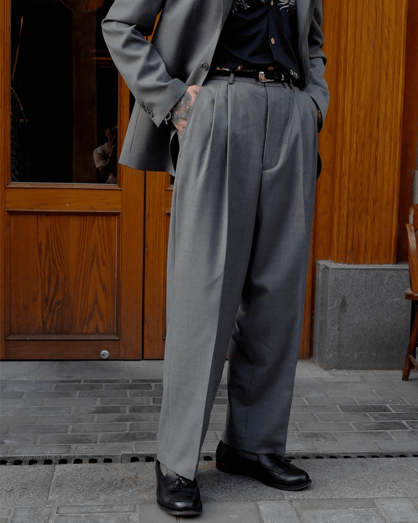 Labourunion_clothing_handemade_american_retro_vintage_style_menswear_bottoms_Classic_California _conservative _slack_grey