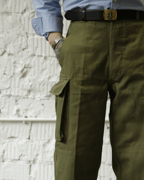 Labourunion_clothing_handemade_american_retro_vintage_style_menswear_bottoms_HBT_French_Army_M47_Cargo_Trouser