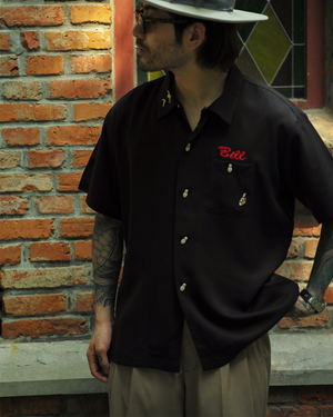 Labourunion_clothing_handemade_american_retro_vintage_style_menswear_tops_WhatMeworry_50s_Bowling_Shirt-black