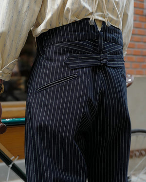 Pinstripe Denim Trouser