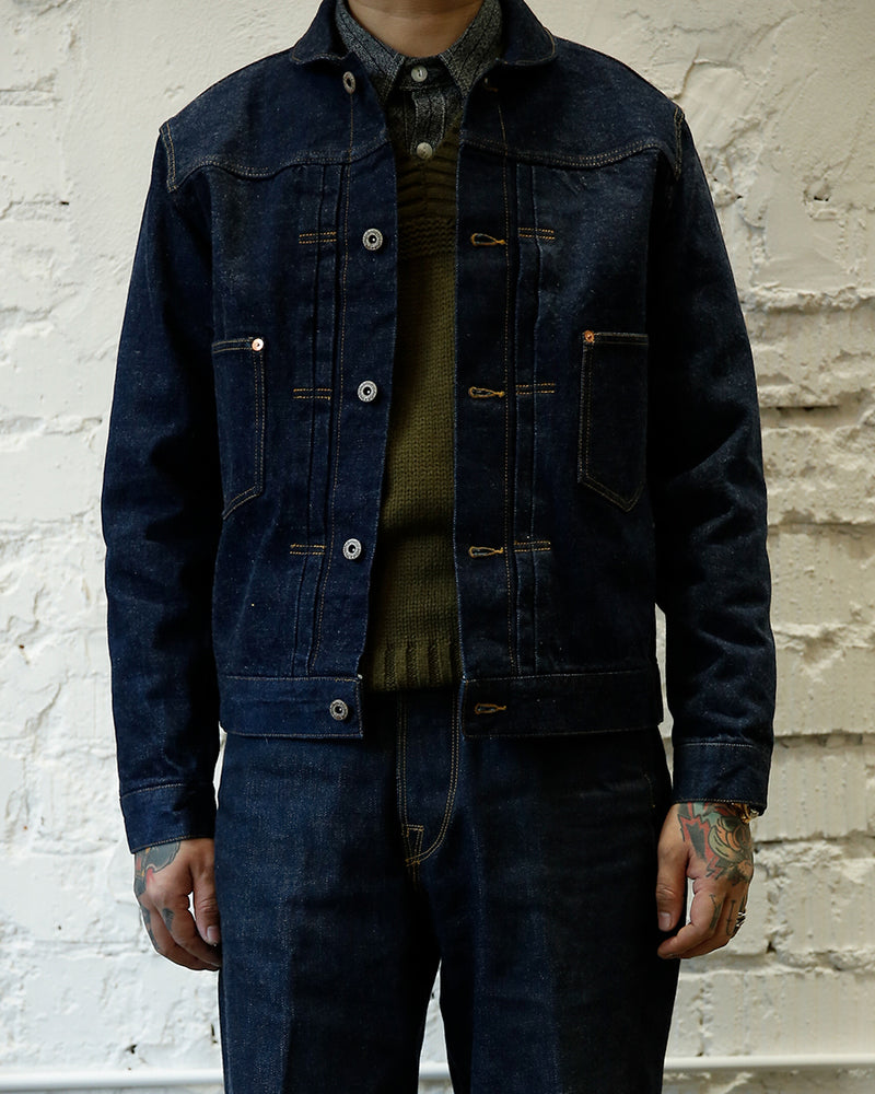 Shawl Collar Denim Jacket