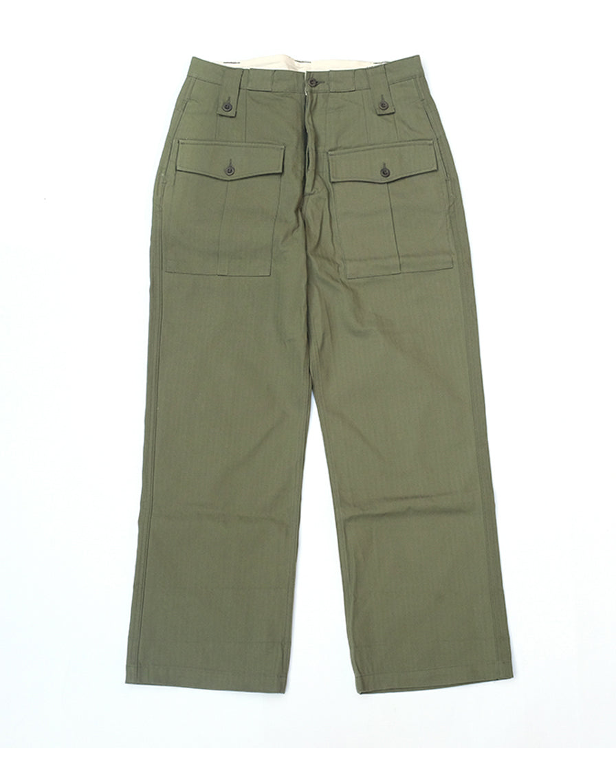 High- waist -Twill- Army- Trousers