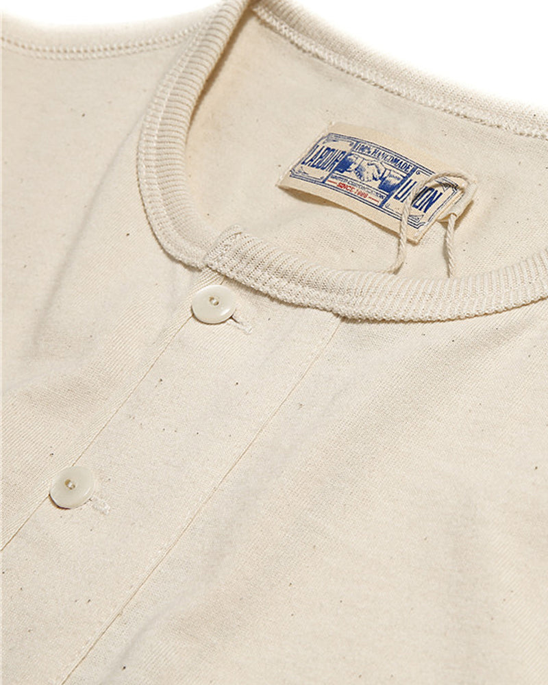 Labour Union-amrecian-retro-clothing-US Military Henley Shirt -ribbed-neckline-raw cotton