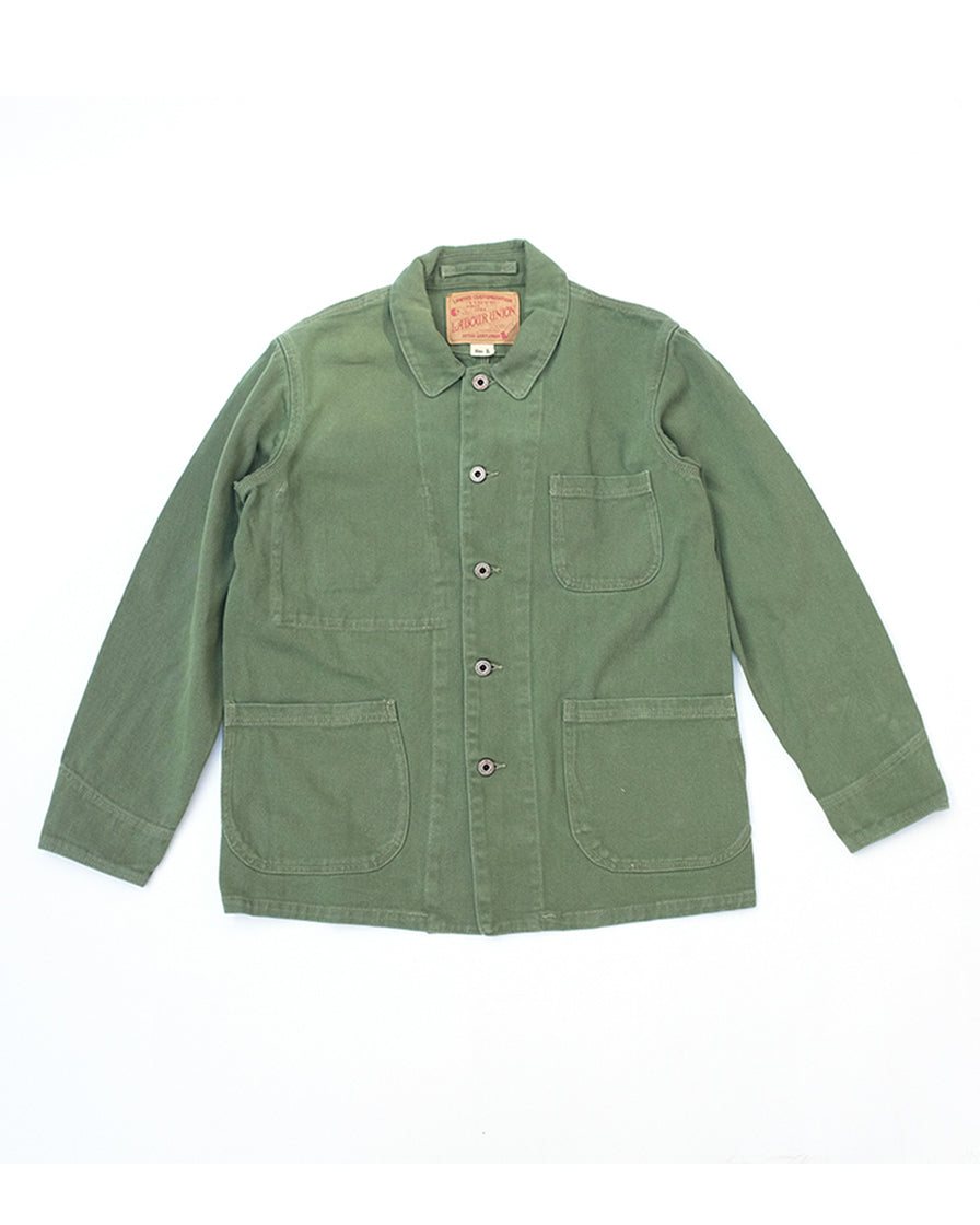 french work jacket- army green