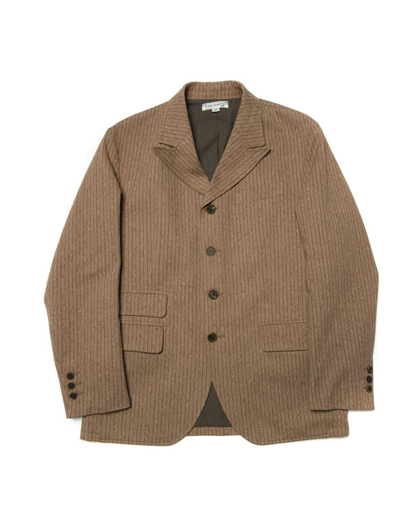 Pinstripe Peaked Lapel Suit jacket Brown